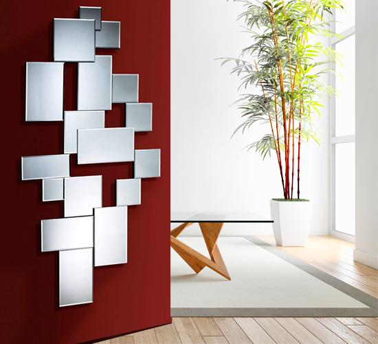 Espejo moderno cristal city dise o italiano ambientes modernos - Recibidores de diseno italiano ...