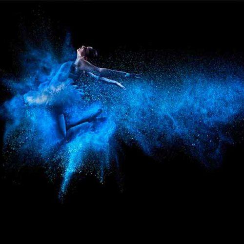 Fotografia Bailarina Azul