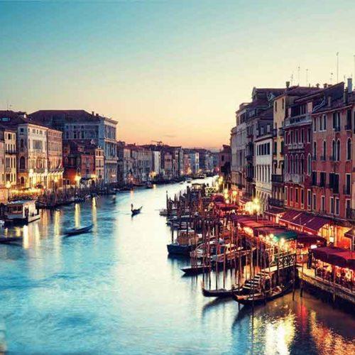 Lamina fotografia en cristal Venecia
