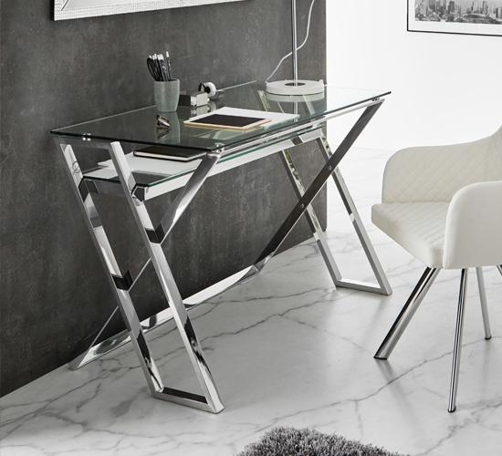 Mesa escritorio de acero inoxidable Irun