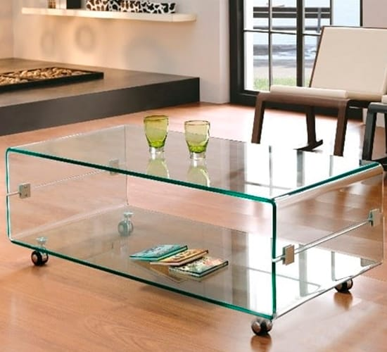 Mesa de centro melbourne cristal dise o italiano cristal for Mesas diseno italiano