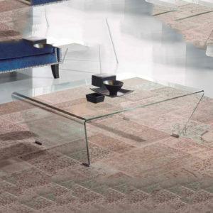 Mesas de Cristal de Centro LISITEA recta