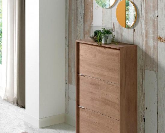 Credenza Con Espejo : Credenza in legno con impiallacciatura noce e cassetti specchio