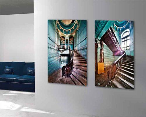 Fotografía Díptico Escaleras