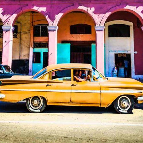 Fotografia Coche Amarillo