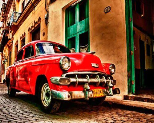 Fotografia Coche Rojo