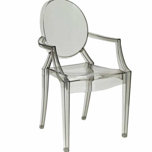 SILLA TRANSPARENTE REPOSABRAZOS LOUIS GHOST