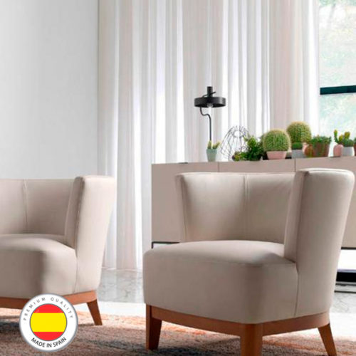 Sillón tapizado en piel Muebles Ángel Cerdá